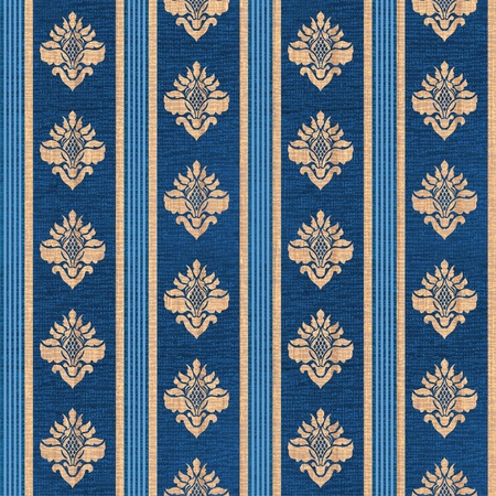 contrasty: retro seamless ornament with stylized flowers and strips