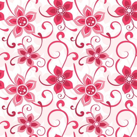 Floral seamless pattern decorative flowers