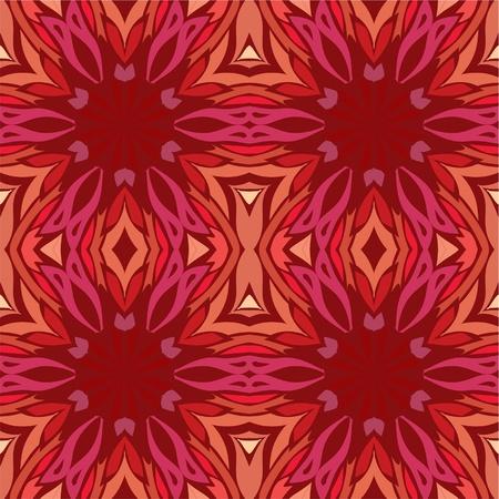 r�p�titif: Kal�idoscope lumineux de motif r�p�titif en rouge, fond transparent