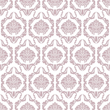 absract art: seamless ornamental wallpaper pattern at white background