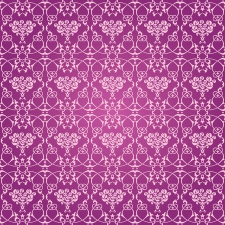 Vintage classic ornamental seamless wallpaper pink roses Vector
