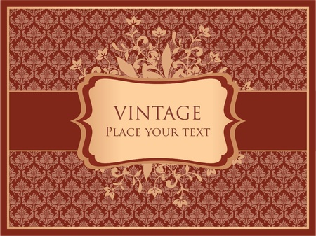 Vintage ornamental card template Vector