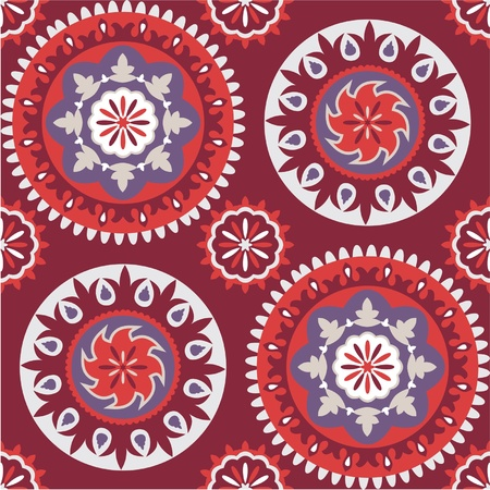 Seamless floral pattern.Traditional oriental bright ornament Vector