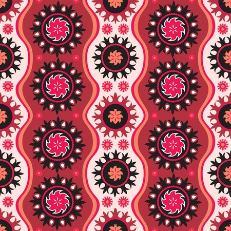 contrasty: Traditional oriental seamless ornament in bright colors Illustration