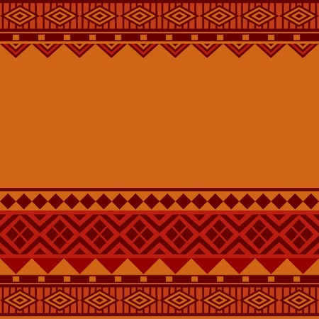 African style geometrical ornamental seamless background texture Vector
