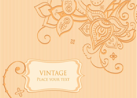 Floral background decorative indian style flowers and place for your text Vector