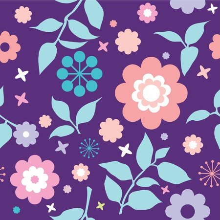 colorfull seamless floral pattern with decorative flowers Vector