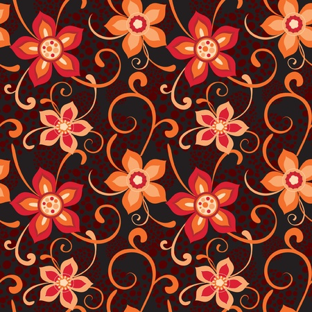 contrasty: Bright floral design with decorative flowers