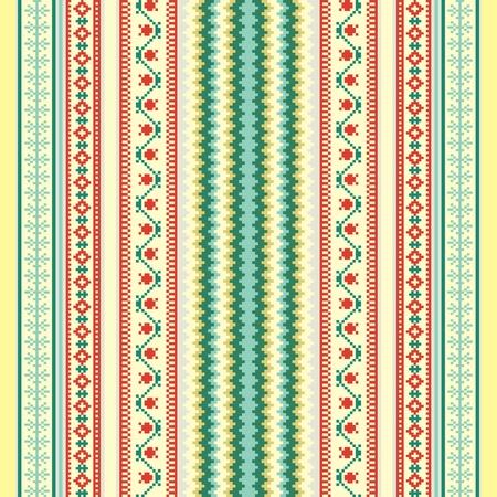 Traditional ornamental pattern folk style