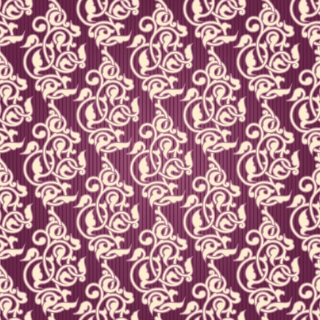 contrasty: Ornamental seamless wallpaper with arabesques Illustration