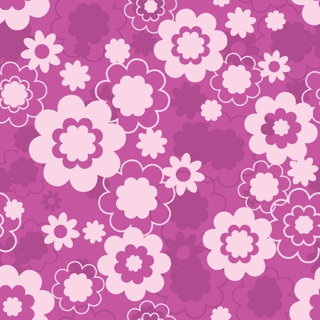 Simple floral fabric seamless pattern Vector
