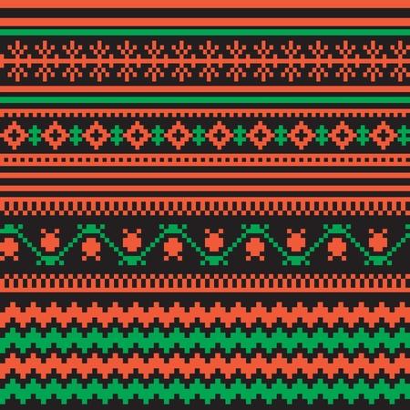 slavic: Textile ornamental seamless pattern folk style