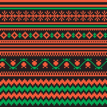 slavic: Textile ornamentale seamless stile folk