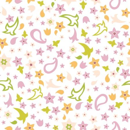 Vector naadloze bloemen stof patroon met bloemen
