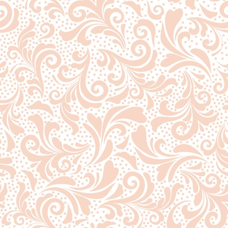 Abstract floral design, seamless decorative pattern