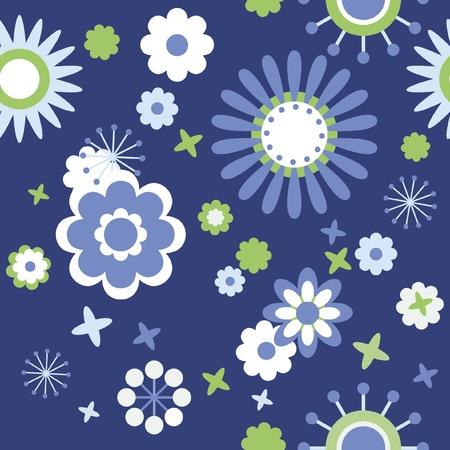 tiles texture: Decorative floral design, seamless wallpaper of flowers