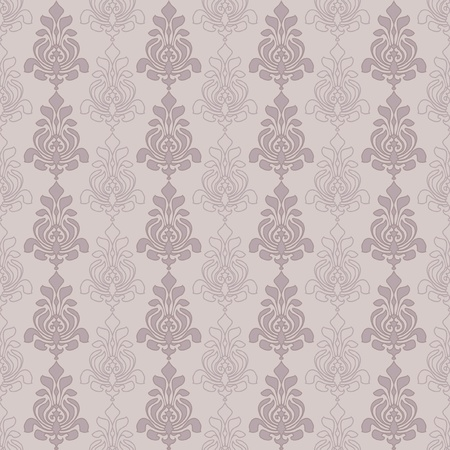 Ornamental seamless pattern, classic vintage neutral wallpaper Vector