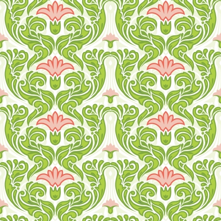 contrasty: Vintage seamless pattrn; classic floral wallpaper Illustration