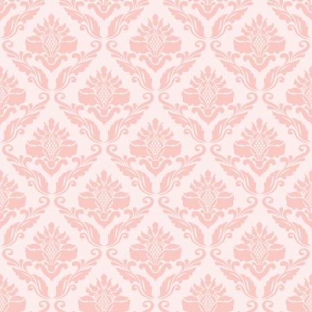 Klassieke naadloze behang in het roze