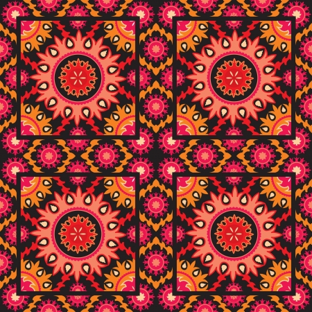 Ethnic decorative bright background asian style Vector