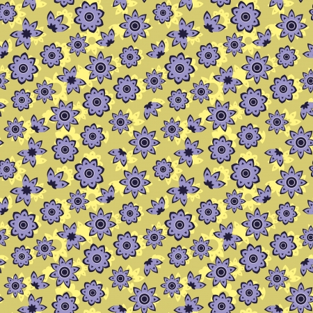 Floral seamless pattern of little flowers Vector