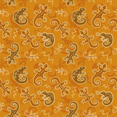 Lizards and chameleons wallpaper Stock Vector - 13910292