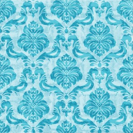 papel tapiz turquesa: Cl�sico de damasco sin fisuras papel tapiz floral