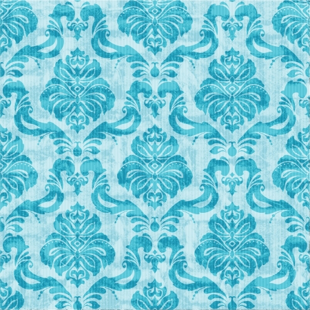 turquoise wallpaper: Classic damask floral seamless wallpaper
