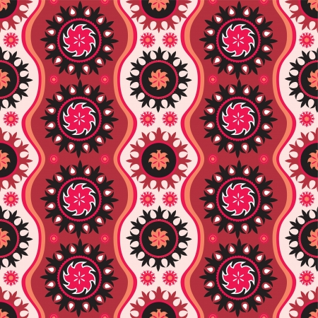 Traditional oriental seamless ornament in bright colors Vector