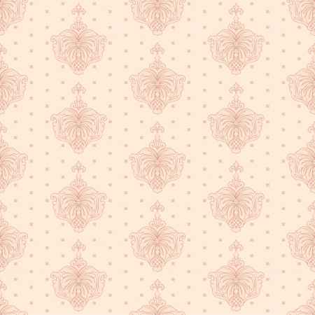 Classic wallpaper, floral seamless background in retro style Vector