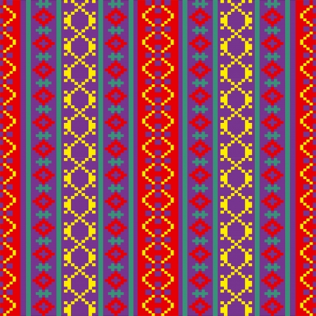 Bright colorful textile ornamental seamless pattern Vector