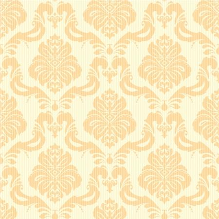 오렌지: 밝은 오렌지색과 노란색의 클래식 다 꽃 원활한 벽지