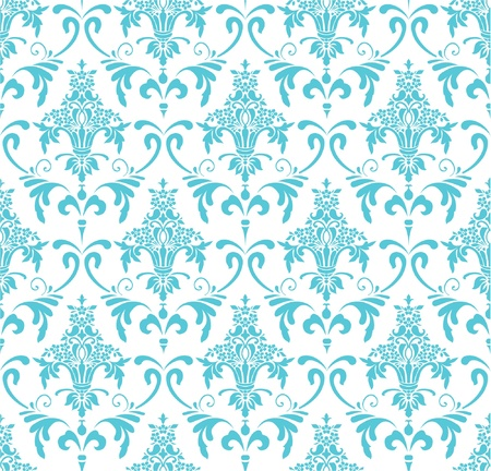 Classic wallpaper with victorian ornament, seamless pattern Vector