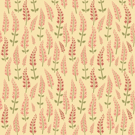 Seamless floral pattern, wallpaper of stylized flowers willow-herb Stock Vector - 14254491