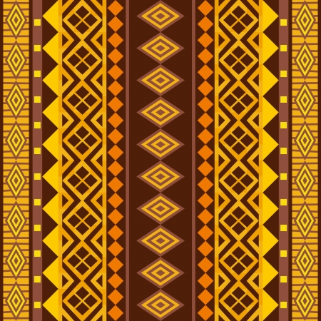 primitive: African geometric ornament; vector seamless background