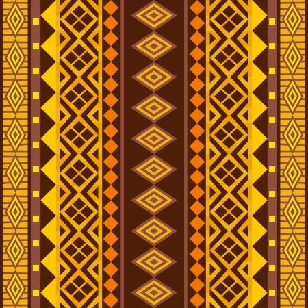 ilustraciones africanas: Ornamento geom�trico de �frica; vector de fondo sin fisuras Vectores