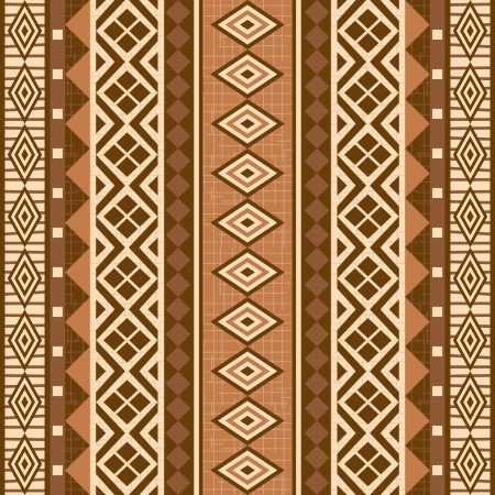 Geometrical ornamental pattern seamless texture african style Vector