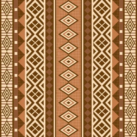 Geometrische sier patroon naadloze textuur in Afrikaanse stijl