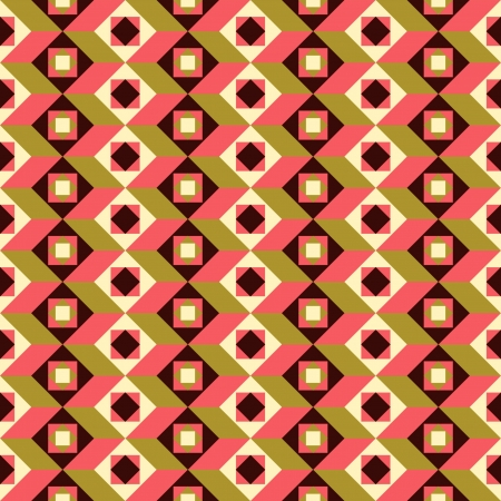 tile flooring: Abstract seamless pattern, retro style colorful background  Illustration