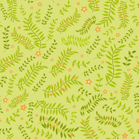 Summer floral seamless pattern in green Stock Vector - 14408931