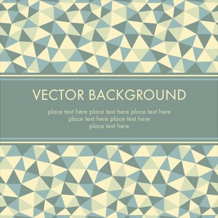 Vector abstract retro background with place for your text Vector