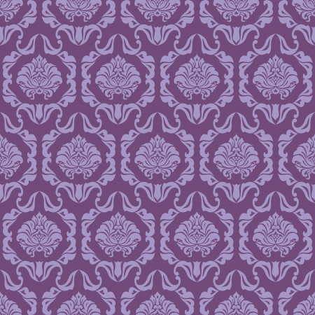 Classic ornamental seamless wallpaper; elegant damask background  Vector