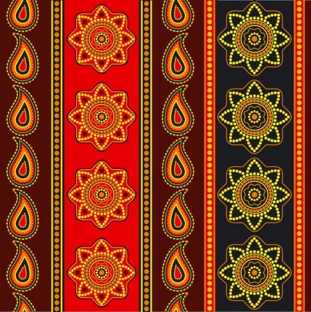 sari: Rayas de colores sin fisuras papel tapiz estilo oriental ornamental Vectores