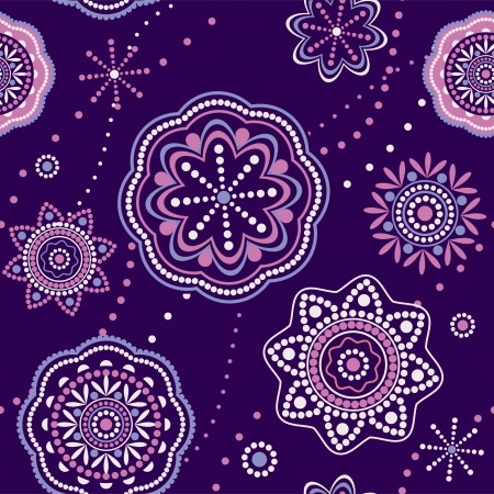 Ornamental seamless pattern decorative floral texture oriental style Vector