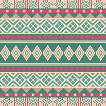 Geometrical seamless ornamental pattern ethnic style Vector