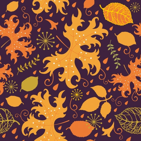 Autumn pattern with colorful leaves Stock Vector - 14973310