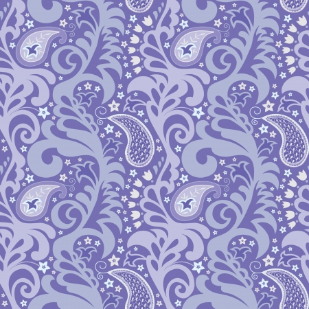 Decorative seamless floral texture with paisley and decorative flovers