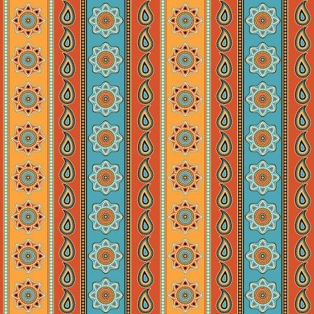 motive: Bunte gestreifte nahtlose Hintergrund indischen Stil