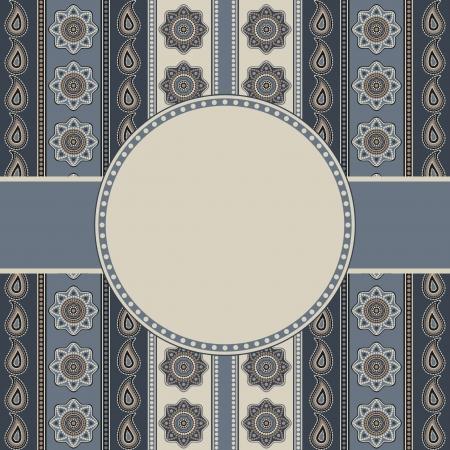 Decorative ornamental background invitation template in gray Stock Vector - 14973476