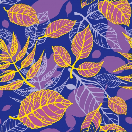 Bright decorative seamless pattern with autumnal leaves Stock Vector - 14973344